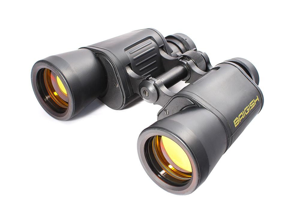 Binoculars 10x40 Baigish BPC2, ruby lens coating, rubberized case,  production KOMZ, Russia